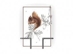 Bustling Squirrel – Greeting Card