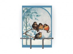 Christmas Card with Vintage Birds