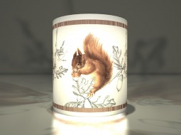 Autumn Paper Lanterns: The Bustling Squirrel