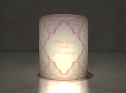 Birthday Lantern in baby pink
