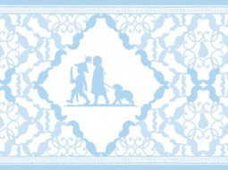"Baby Wallpaper Border ""Under the Pear Tree"""