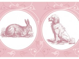 My Pets – Wallpaper Border in pink