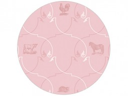 European Wildlife Ornament – Wallpaper in pink