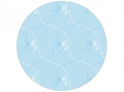 Floral Ornament Wallpaper in blue
