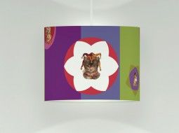 Colourful Ceiling Lamp with cats