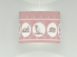 Lovely ceiling lamp with pets