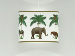 Summer Ceiling Lamp with animals & palmtrees
