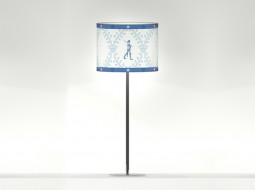 Guarding Table Lamp in light blue
